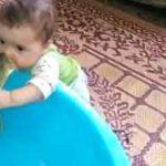 لب گرفتن ماهی با بچه!